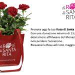 Il 1 e il 2 maggio a Pizzoli i banchetti solidali con le Rose di Santa Rita
